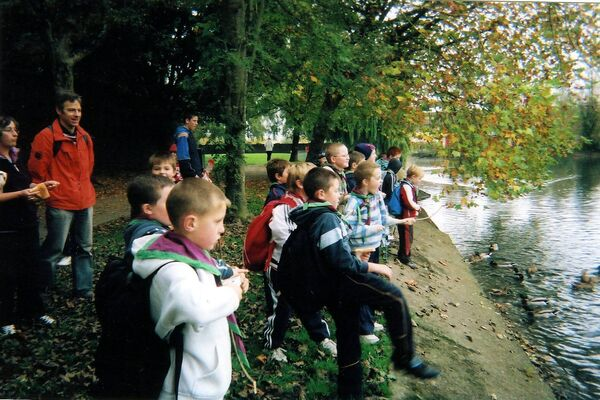 Scouts from the 7th Cork (St. Finbarr's Doyle Road) photographed feeding the ducks at the Atlantic Pond during their hike to the Observatory at Blackrock Castle, 2007. Picture: Jim Goulding.