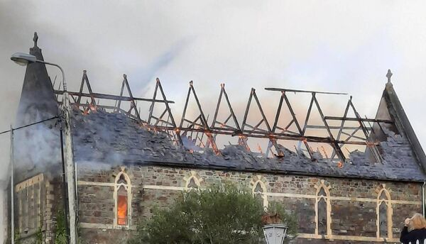 Image of fire at former convent in Skibbereen. Credit: John Bohane