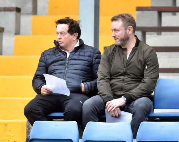 RTE broadcaster Marty Morrissey with Blackrock senior manager Fergal Ryan watching Na Piarsaigh and UCC. Picture: Eddie O'Hare
