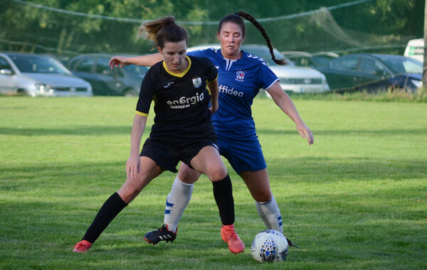 Riverstown's Lauren Murphy keeps the ball away from Wilton's Zoë Murphy during the GE Healthcare CWSSL Senior Womens Premier League match at Pat Bowdren Park. Picture: Howard Crowdy
