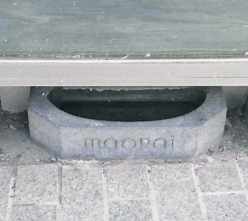 ICONIC SPOT: The dog-trough where the Old Bridge Restaurant was.