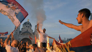 Thousands rally in Montenegro claiming victory for pro-Russian parties