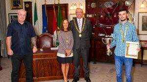 Elite boxing champion McCarthy honoured by Lord Mayor for his achievements