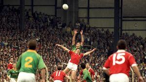 Celebrating the Double: Shea Fahy soared at Croke Park in 1990