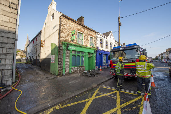 The post office on 82 Main Street, Midleton, Co Cork, was gutted by a fire last month. Picture Dan Linehan