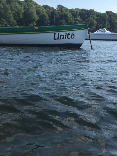 Cammy spotted the Unite boat during her trip.