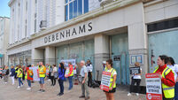 Former Debenhams workers thank Cork people for support as store occupation to end tomorrow