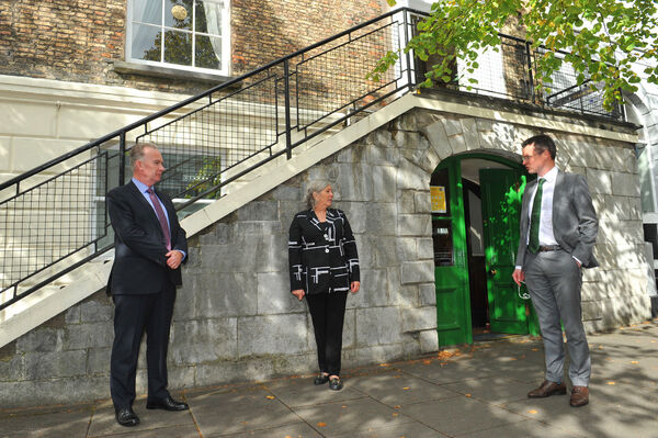 Patrick O'Donovan T.D., Minister of State with responsibility for the Office of Public Works visited Cork City on Wednesday, 23 September to meet with the Lord Mayor and the CEO of Cork City Council to discuss progress on the Lower Lee Flood Relief Scheme for Cork City.