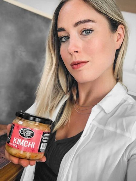 Hayley Milthorpe with her Kimchi, from The Cultured Food Company in Cork.