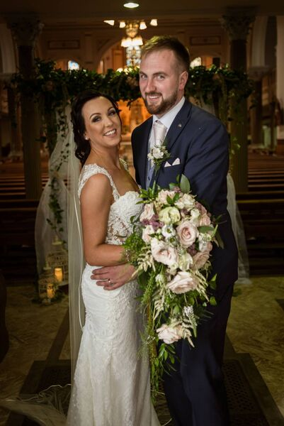 The couple said despite Covid causing some twists and turns in the day, they had a wonderful wedding.