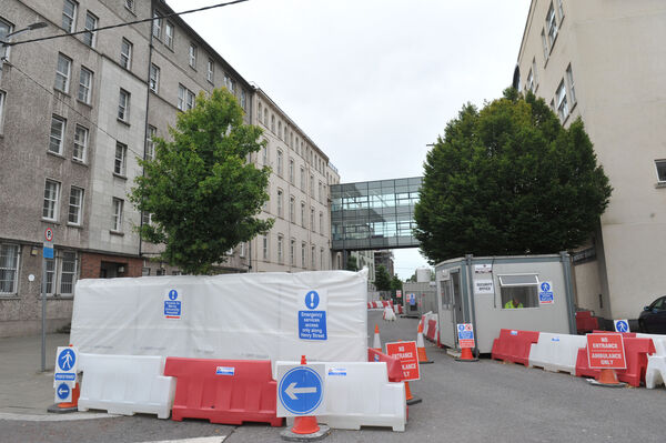 Construction works underway adjacent to the Mercy University Hospital Cork earlier this month.
