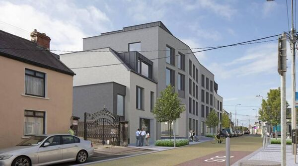 Artist impression of Bandon Road Purpose Built Student Accommodation overlooking The Lough.