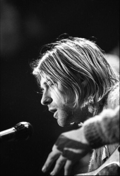 American singer and guitarist Kurt Cobain (1967 - 1994). Photo by Frank Micelotta/Getty Images.