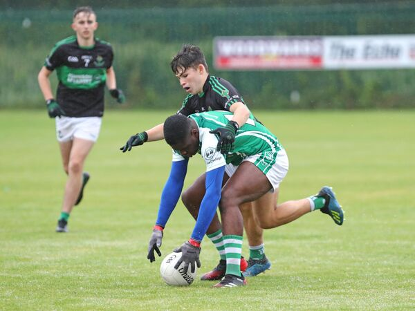 Dylan Ebili, Ballincollig, on the ball. Picture: Jim Coughlan.