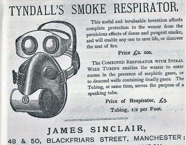 LIFESAVING PLAN: John Tyndall's Respirator — the price of £2. 10s equates to about €400 today.