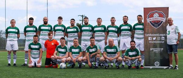 Harp Celtic before a recent friendly against Casement Celtic at Mayfield United Park. Picture: David Ribeiro