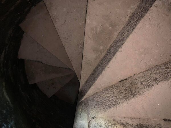 230-year-old spiral staircase discovered at Spike Island. Photo credit: Spike Island.