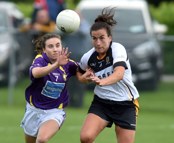West Cork's Melissa Duggan and Mourneabbey'sBríd O'Sullivan tussle for the ball. Picture: Eddie O'Hare