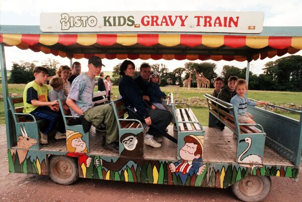 Visitors on board the so-called 'gravy train' at Fota in 1999. Picture: Maurice O'Mahony.