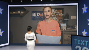 Boy with stutter steals show in emotional speech praising Biden
