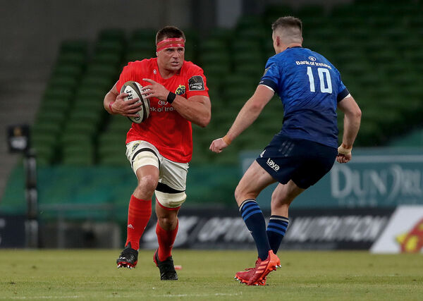 Munster's CJ Stander and Johnny Sexton of Leinster. Picture: INPHO/Bryan Keane