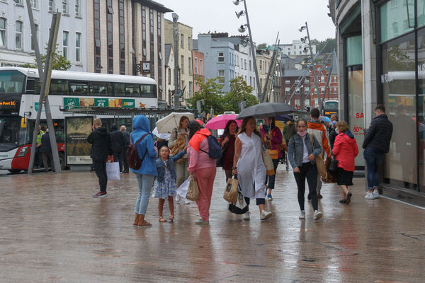 A Status Red wind warning has been issued for Cork with possible low level pooling on quays.Credit: Damian Coleman