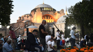 Prayers held at Hagia Sophia after mosque reconversion