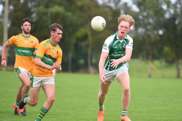 Paraic O'Keeffe, Ballincollig, on the ball. Picture: Larry Cummins.