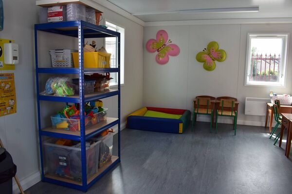 The Rainbow Club's newly kitted out portable cabins which will cater for more children once restrictions ease further.