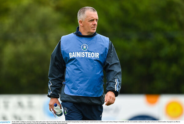 Castlehaven manager James McCarthy. Picture: Brendan Moran/Sportsfile