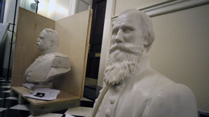 Virginia's state capitol removes busts and statue honouring Confederate leaders