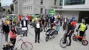 Cork healthcare workers deliver petition to City Hall for protected cycleway linking hospitals