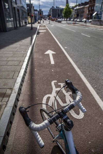 Bike lanes as part of the Reimagining Cork City Programme.Picture Clare Keogh