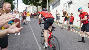 Cyclists complete Tour de Munster with gruelling cycle up Patrick's Hill
