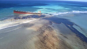Mauritius scrambles to counter oil spill from grounded ship
