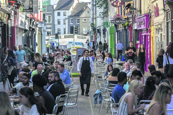 Princes Street recently pedestrianised as part of the Reimagining Cork City Programme.Picture Clare Keogh