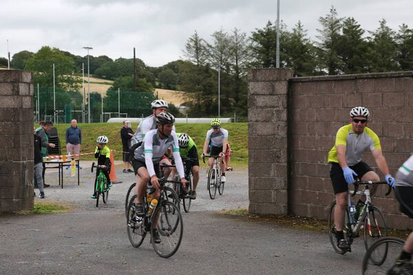 Participants at the CField Construction Walk & Cycle fundraiser in support of the Cork Camino Challenge, which was held at Coachford GAA on Saturday, July 25. Photo: Barry Crowley.