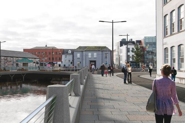 The Morrison's Island Public Realm and Flood Defence Project (proposed)