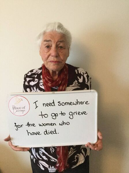 Another image of Helen during her 16 day online campaign to raise awareness of domestic violence.