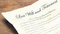 Close Up of an Old Last Will and Testament Document