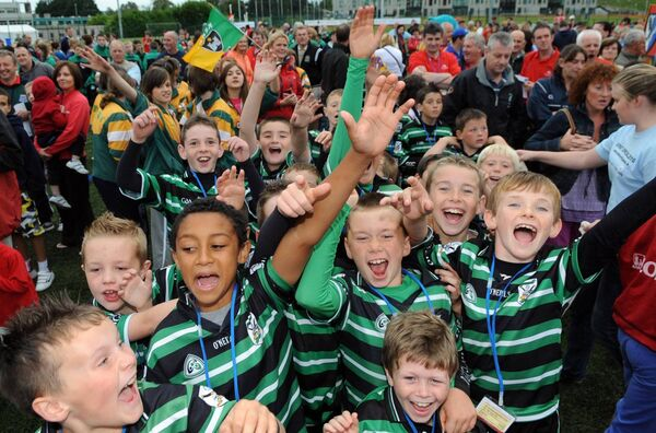 Adam Idah having with with his teammates from Douglas in the communty games finals in Athlone in 2010 Picture: Eddie O'Hare