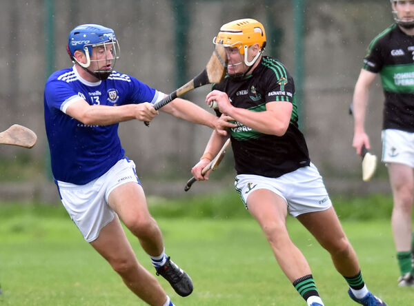 Nemo Rangers' Conor O'Donovan breaks from Brian Dillon's John Horgan during the Sports Turf Solutions Seandún JAHC at Ballinlough Picture: Eddie O'Hare