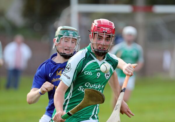 Tadhg O'Connell, Ballincollig, is pursued by Jack Cahalane, St Finbarr's, in a minor game this week. Cahalane will be a key hurler for Christians again in the revised Harty Cup. Picture: Jim Coughlan.