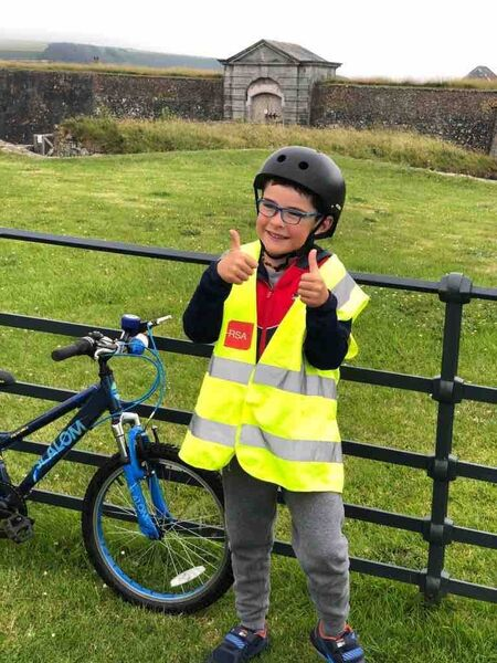 Harry O'Hanlon during one of his 3km cycles raising vital funds for Shine Centre for Autism, Sonas Special Primary Junior School and The Rainbow Club Cork.