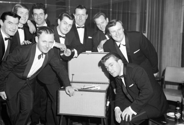 The Regal Showband, of Cork, with their new single, Love Me, in 1964