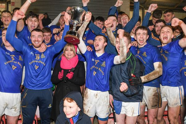 Tracey Kennedy after presenting the Barrs U21 hurlers with the cup last season. Picture: David Keane.