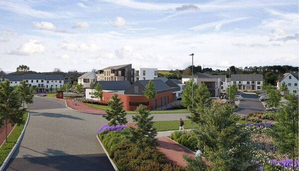 An artist impression of the Ballyvolane housing project.