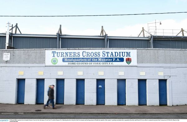 A general view outside Turner's Cross, the home of Cork City FC and the Munster FA. Picture: Eóin Noonan/Sportsfile