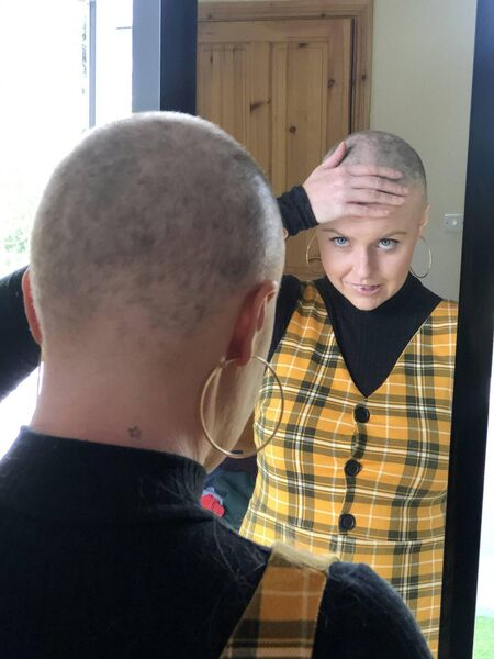 Mary had started to suffer hair loss due to a stress related illness, so decided to take it all off in aid of a good cause.