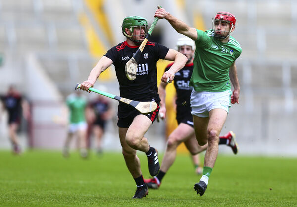 Cork's Seamus Harnedy in action against Limerick's Barry Nash, a former minor whose point was ruled out in 2013. Picture: INPHO/Ken Sutton
